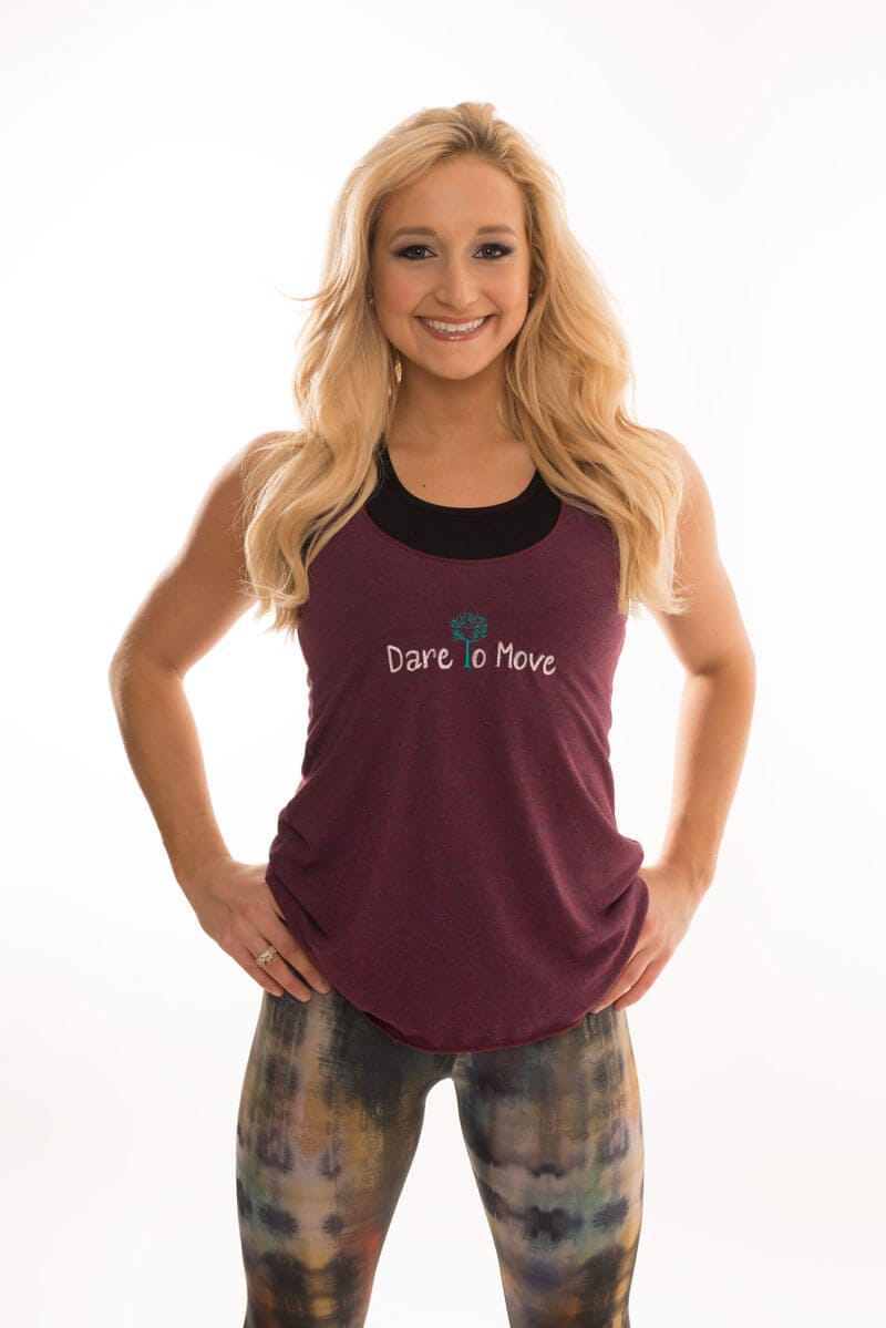 Dare To Move Tank Maroon