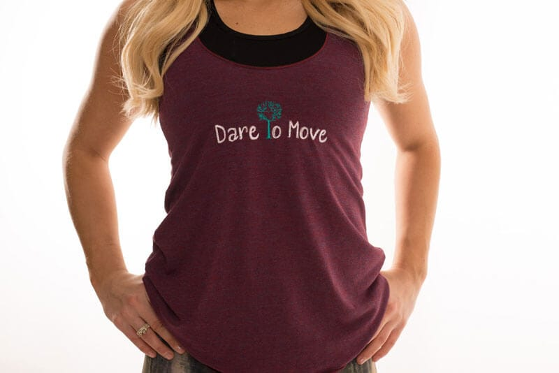 Dare To Move Tank - Maroon