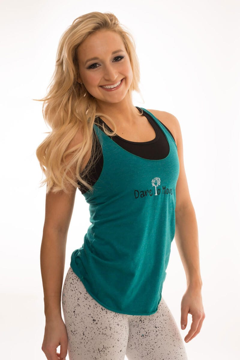 Dare To Move Tank Teal