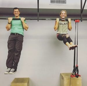 Ryan let me do chin-ups instead of rows during the Saturday class and I got 13 reps.